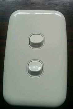 Clipsal Two 2 Gang Light Switch Double Wall Plate White Slimline Helping Other People, Plates On Wall