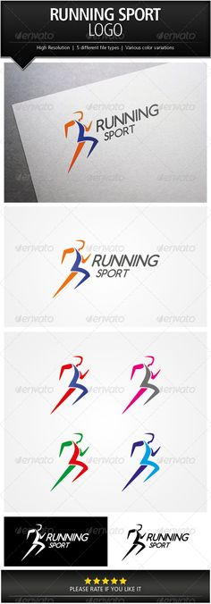 Running Sport Logo Template — Photoshop PSD #professional #communication • Available here → https://graphicriver.net/item/running-sport-logo-template/5067256?ref=pxcr
