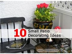 small patio ideas on a budget | after : new patio furniture ... - Tiny Patio Ideas