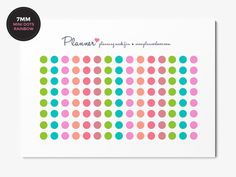Bright Rainbow Mini Dots Planner Stickers - Set of 120 7mm circles