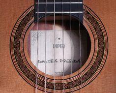 Cedar top classical guitar