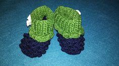 crochet blueberry booties