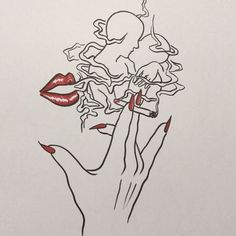 disappear like smoke Song ' Cigarettes After Sex - Affection' Smoke Drawing, Smoke Art, Art And Illustration, Art Sketches, Art Drawings, Trippy Drawings, Cigarette Drawing, Dope Kunst, Aesthetic Art