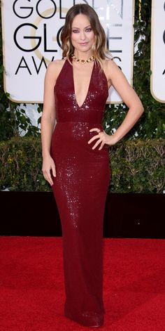 2016 Golden Globes Red Carpet Arrivals - Olivia Wilde - from InStyle.com