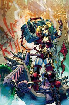 Harley Quinn #1 variant cover by Carlos D'Anda *