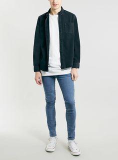 Washed Black Denim Long Sleeve Shirt