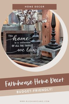 Are you like me and love farmhouse home decor? I know you do! I've combed the internet and found 32 of the cutest farmhouse home decor items you're likely to see! And they are all budget-friendly! So come on in and find something perfect for your home on a budget! #farmhousedecor #homedecor #budgetfriendlydecor #farmhousestyle