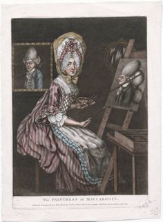 The Macaroni Painter, or Billy Dimple Sitting for his Picture  Robert Dighton (1752-1814)