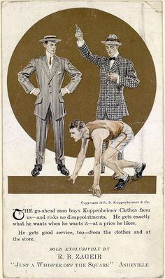 Kuppenheimer Men's Clothes (1911).