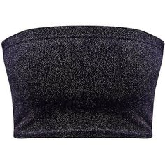 Navy Sparkle Velvet Bandeau Crop Top ($12) ❤ liked on Polyvore featuring tops, sparkly tops, navy crop top, velvet crop top, navy top and crop top