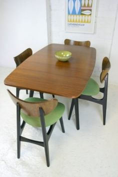 1950s G-Plan butterfly chairs & table.