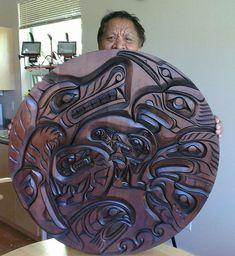 Photo Arte Haida, Haida Art, Native American Artwork, American Indian Art, Wooden Art, Wood Wall Art, Indian Artwork, Inuit Art, Native Design