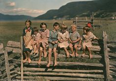 Beautiful homespun images capture early 20th century 'wonder years' when children ran barefoot instead of playing Xbox