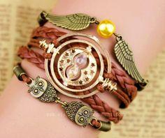 harry potter bracelet hollow out the owl bracelet by manualstorm, $5.99