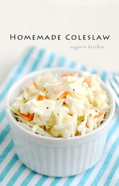 Homemade Coleslaw from Scratch Recipe - Eugenie Kitchen