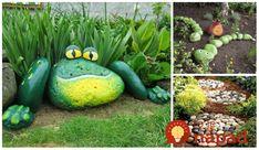 Obyčajné kamene môžete v záhrade využiť naozaj úchvatným spôsobom. Môžete ich nafarbiť, alebo jednoducho uložiť na trávnik a vytvarovať do podoby zvieratka, alebo ornamentu. Tieto nápady si určite zamilujú aj vaše ratolesti! Garden Sculpture, Watermelon, Diy And Crafts, Fruit, Outdoor Decor, Plants, Gardening, Yard Ideas, Patio Ideas