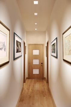 Place recessed LEDs in a straight line to elongate hallways LED lighting Idea for hallways Aurora Dual LED Square Edge - by Pure Lighting & Square Recessed Lighting | Ceilings | Pinterest | Squares Lights ... azcodes.com