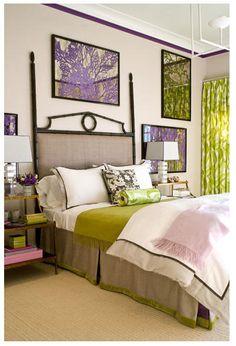 painted mirrors amanda nisbet design  Prints (custom, églomise with seaweed): Soicher Marin