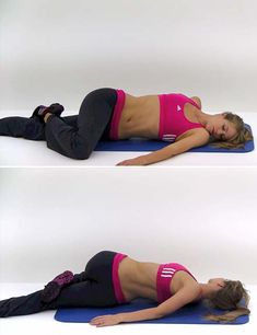Prone Torso Twist The suffering of sciatica is commonly felt from the low back (lumbar area) to behind the thigh and might radiate down below the knee. The duration of sciatica is critically dependent on its cause. Sciatic Nerve Exercises, Sciatic Nerve Relief, Sciatic Pain, Back Pain Exercises, Fitness Workouts, Hip Workout, Yoga Fitness, Yoga For Sciatica, Sciatica Stretches