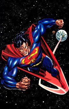 Superman by Jon Bogdanove and Dennis Janke Superman Hulk, Superman Man Of Steel, Superman Wonder Woman, Batman, Superman Stuff, Dc Comics, Action Comics 1, Comic Book Characters, Comic Character