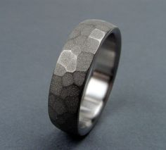 Nature Inspired Handmade Titanium Wedding Band   by hersteller, $129.00