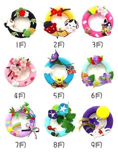 Origami Wreath, Origami Flowers, Origami Paper, Decor Crafts, New Crafts, Diy And Crafts, Diy For Kids, Crafts For Kids, Japan Crafts