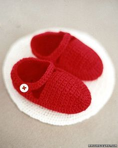 Crocheted Baby Booties Instructions - Martha Stewart Crafts