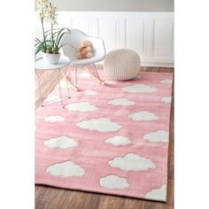 Shop for nuLOOM Handmade Modern Clouds Kids Pink/ Blue Rug (5' x 8'). Get free shipping at Overstock.com - Your Online Home Decor Outlet Store! Get 5% in rewards with Club O!