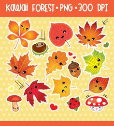 50% OFF SALE Leaves, leaf, autumn, fall, Digital Clipart, Digital Stickers, Planner Stickers Clipart, Instant Download, Commercial Use By CockatooDesign