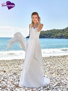 Robe de mariée Bengal, robe de mariée fluide - Point Mariage
