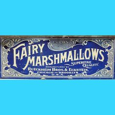 15 lbs. of Fairy Marshmallows…yes, please and thank you. #typehunter #typehunting #vintageadvertising #vintageletters #badgehunting