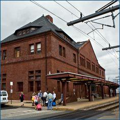 New London, CT railroad station (aka Union Station). Designed by HH Richardson