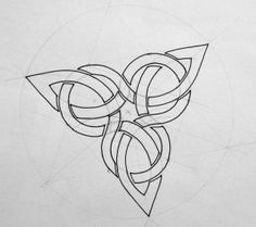 Initiation to Celtic motifs at Plneuf Val Andr on July Celtic Symbols, Celtic Art, Celtic Knots, Celtic Knot Designs, Triquetra, Pentacle, Celtic Patterns, Celtic Tattoos, Norse Tattoo