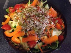 Healthy micro green salad from Beachbody Ultimate Reset! Best dressing EVER!