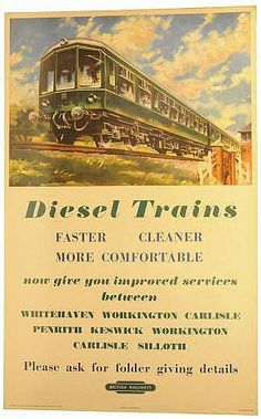 Diesel trains, faster, cleaner, more comfortable - British Railways - (Barber) -