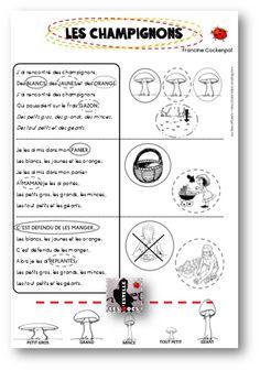 Comptine d'automne : Les champignons, de Francine Cockenpot - Les docs d'Estelle Science Crafts, About Me Blog, Map, Montessori, Craft Ideas, Amazing Photos, Journal Ideas, Location Map, Diy Ideas