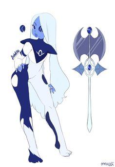 My gemsona! She's a fleet commander serving Blue Diamond! Perla Steven Universe, Steven Universe Drawing, Universe Art, Character Sheet, Character Art, Character Design, Steven Universe Characters, Hero Costumes, Character Inspiration