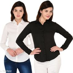 Checkout this latest Shirts Product Name: * Ravishing Polyester  Shirt ( Pack Of 2 )* Fabric: Polyester Sleeve Length: Long Sleeves Pattern: Solid Multipack: 2 Sizes: S, M, L, XL Country of Origin: India Easy Returns Available In Case Of Any Issue   Catalog Rating: ★3.8 (321)  Catalog Name: Women's Aria Ravishing Polyester Solid Shirts CatalogID_133350 C79-SC1022 Code: 865-1087602-4251