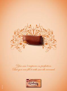 Galaxy Chocolate Caramel Illustration