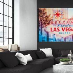 Obraz Las Vegas 120x80cm sklo