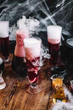 Get ready for some super spooky Harry Potter themed cocktails! Filled with all the magic you need for any party! Halloween Cocktails, Holiday Drinks, Party Drinks, Cocktail Drinks, Cocktail Recipes, Alcoholic Drinks, Cocktail Book, Vodka Drinks, Vodka Lemonade