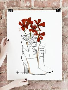 The World At My Feet Art Print, Limited Edition of 75