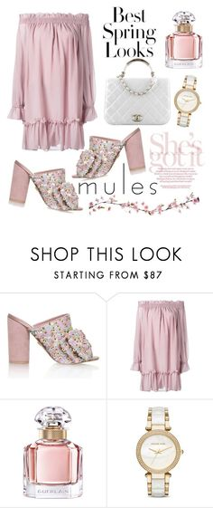 """""""Mules"""" by ela79 ❤ liked on Polyvore featuring KG Kurt Geiger, H&M, Alexander McQueen, Chanel, Guerlain and Michael Kors"""