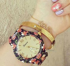 Watches... floral... nice...swag