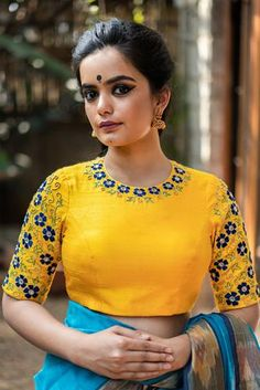 Buy Designer Blouses online, Custom Design Blouses, Ready Made Blouses, Saree Blouse patterns at our online shop House of Blouse from India. Blouse Designs High Neck, Fancy Blouse Designs, Saree Blouse Designs, Designer Blouses Online, Stylish Blouse Design, Designer Blouse Patterns, Blouse Online, Sarees Online, Couture