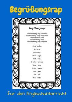 Begrüßungsrap Englischunterricht