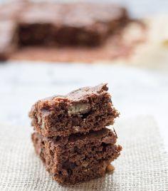 Healthy vegan chocolate and walnut brownies