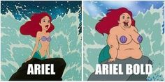 Dump A Day Wednesday's Funny Pictures - sad we think the heavier Ariel is less desirable. Why are we teaching our girls to Hate their bodies?