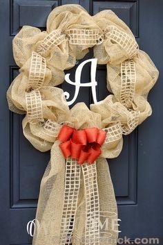 Burlap Wreath Tutorial | www.decorchick.com