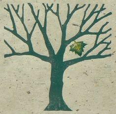 Last Leaf Lino Cut Print